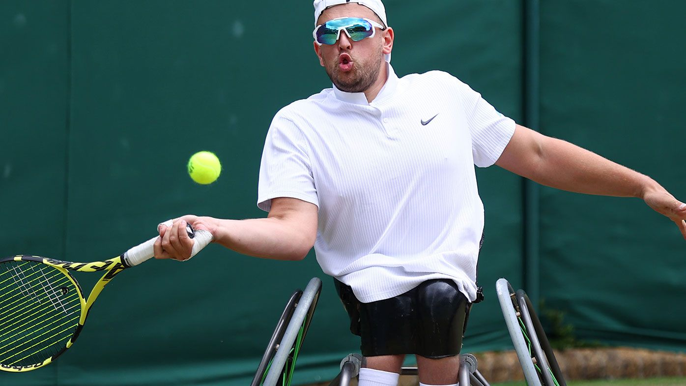 Dylan Alcott is through to the Wimbledon final.