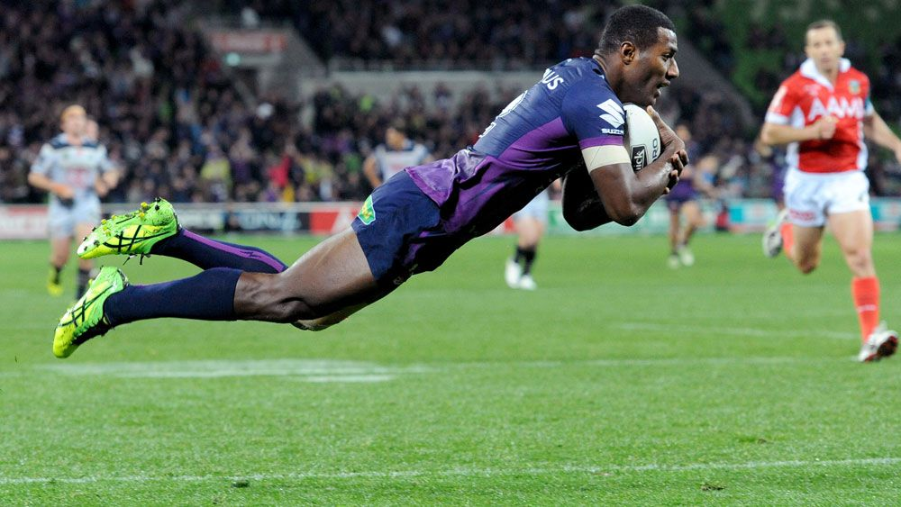 Suliasi Vunivalu has extended his time at the Storm. (AAP)