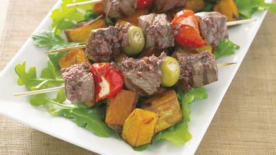 "<a href=""http://kitchen.nine.com.au/2016/05/13/12/12/lamb-skewers-with-olive-tapenade"" target=""_top"">Lamb skewers with olive tapenade<br> <br> </a>"