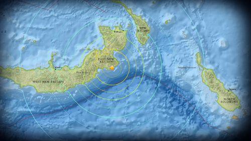 The epicentre of the quake. (USGS)
