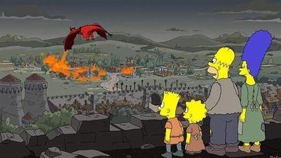 The Simpsons parody Game of Thrones