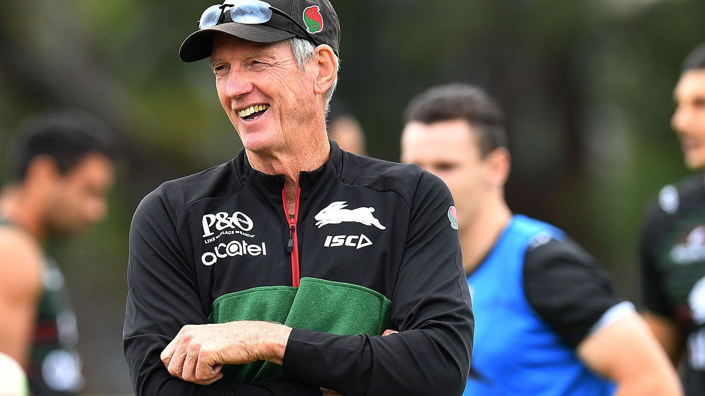 Wayne Bennett at Rabbitohs training