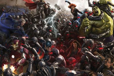 Posters and first footage of <i>Avengers: Age of Ultron</i> were unveiled.