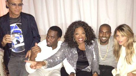 Unlikely BFF alert: Kim and Kanye hang with Oprah and P Diddy