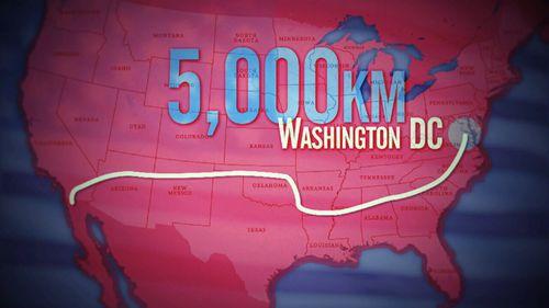 Kay is walking across the US. (9NEWS)