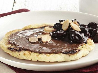Cherry nutella pancake
