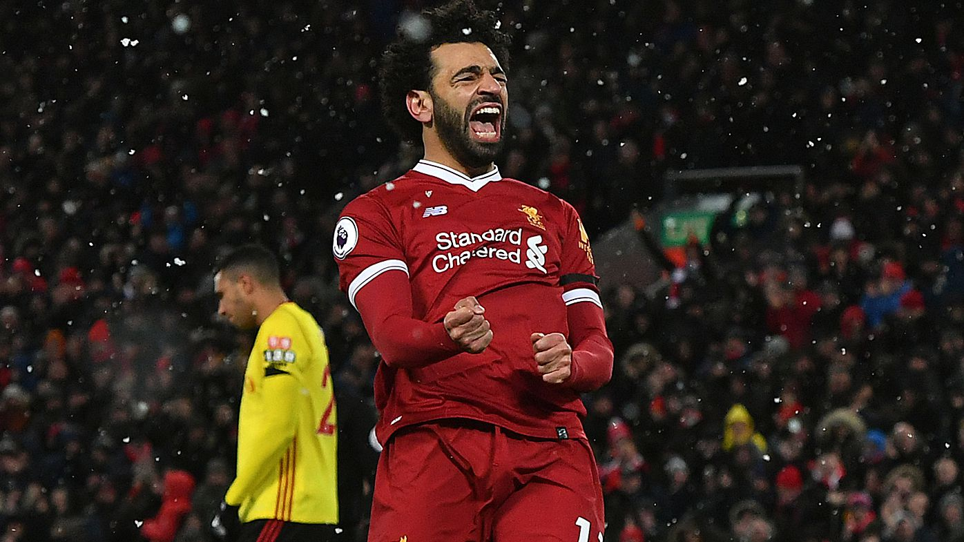 EPL: Liverpool's Mohamed Salah scores four goals against Watford at Anfield