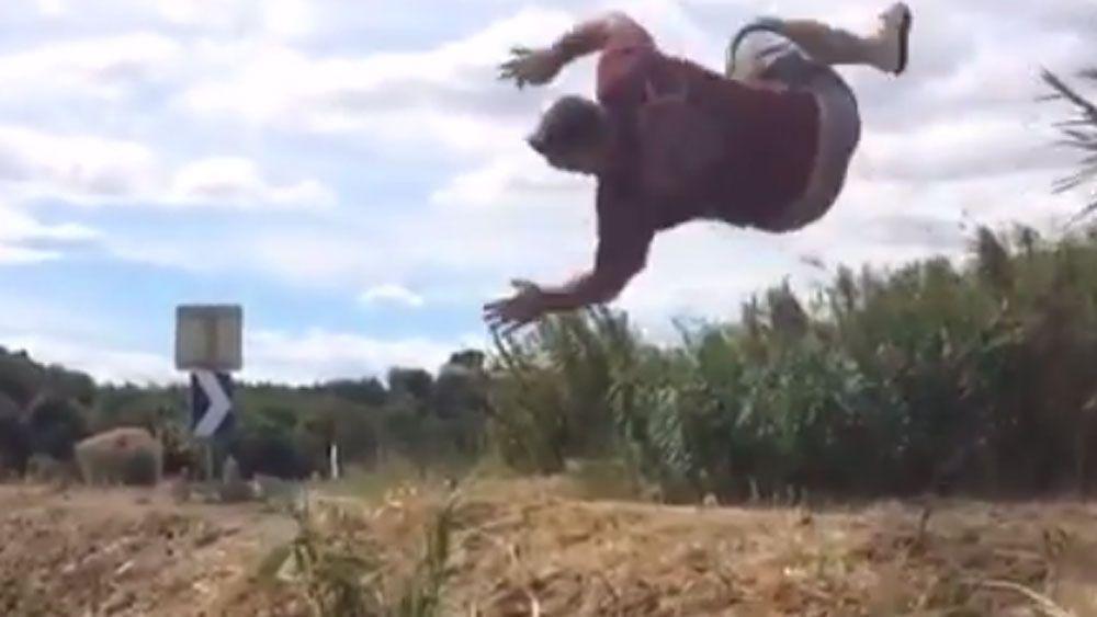 Dave Taylor back flip goes viral