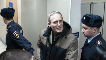 A regional court in western Russia sentenced Dennis Christensen to six years in prison.