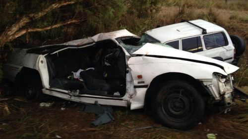 At least one man had to be freed from the wreckage using the jaws of life. (9NEWS)