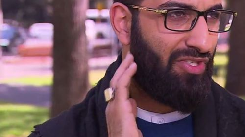 The imam claimed the 22-year-old man punched him in the jaw. (9NEWS)