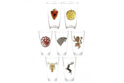 <i>Game of Thrones</i> shot glasses.<br/><br/>(Image: store.hbo.com)
