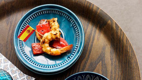 Garlic and paprika char-grilled prawns