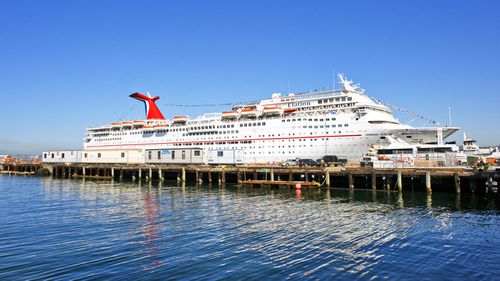 A file photo of the Carnival Cruise Ship Elation in port in San Diego on its way to the Mexican Riveria, in October 2009.