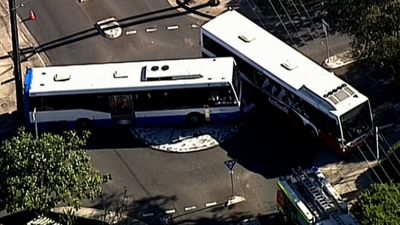 Windows blown out and children injured as school buses collide