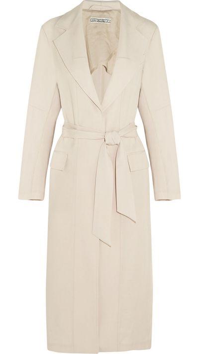 """<a href=""""http://www.net-a-porter.com/product/520177/Dagmar/sadie-woven-trench-coat"""">Sadie Woven Trench Coat, $486.31, Dagmar</a>"""