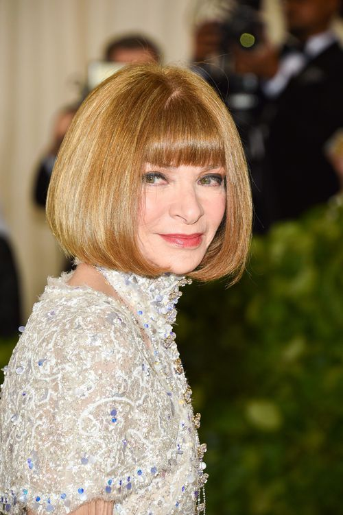 "Anna Wintour called Scarlett Johansson's decision to wear Marchesa to the Met Gala ""a great gesture of support."" (AAP)"