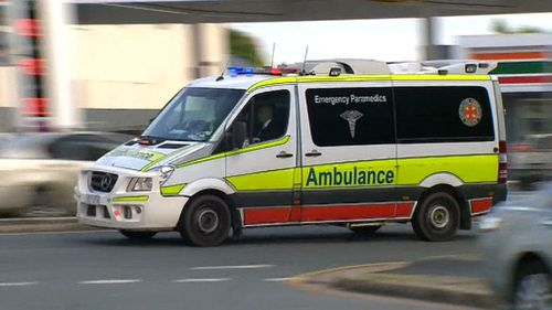 The man was rushed to Gold Coast University Hospital. (9NEWS)
