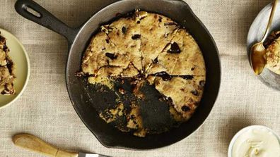Choc chip sugar free skillet cookie