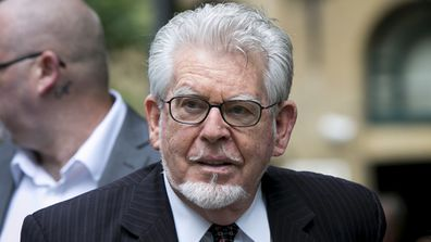 Rolf Harris arrives at Southwark Crown Court on June 16, 2014 (Getty)