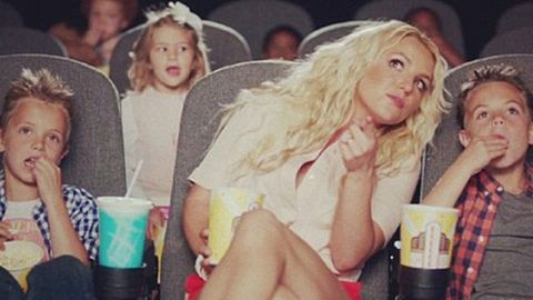 Watch: Britney's kids star in Smurfs music clip