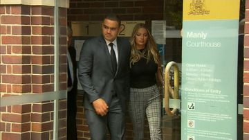 Dylan Walker and his partner walked out of Manly Courthouse today hand in hand.