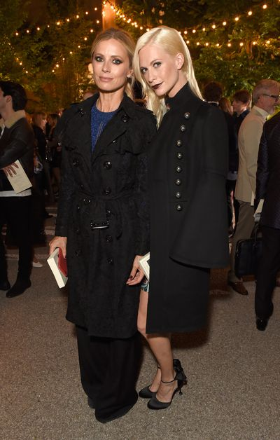 Laura Bailey and Poppy Delevingne at Burberry, autumn/winter '16, London Fashion Week