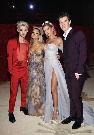 Singer, Troye Sivan, Met Gala, Ariana Grande, Hailey Baldwin, Shawn Mendes