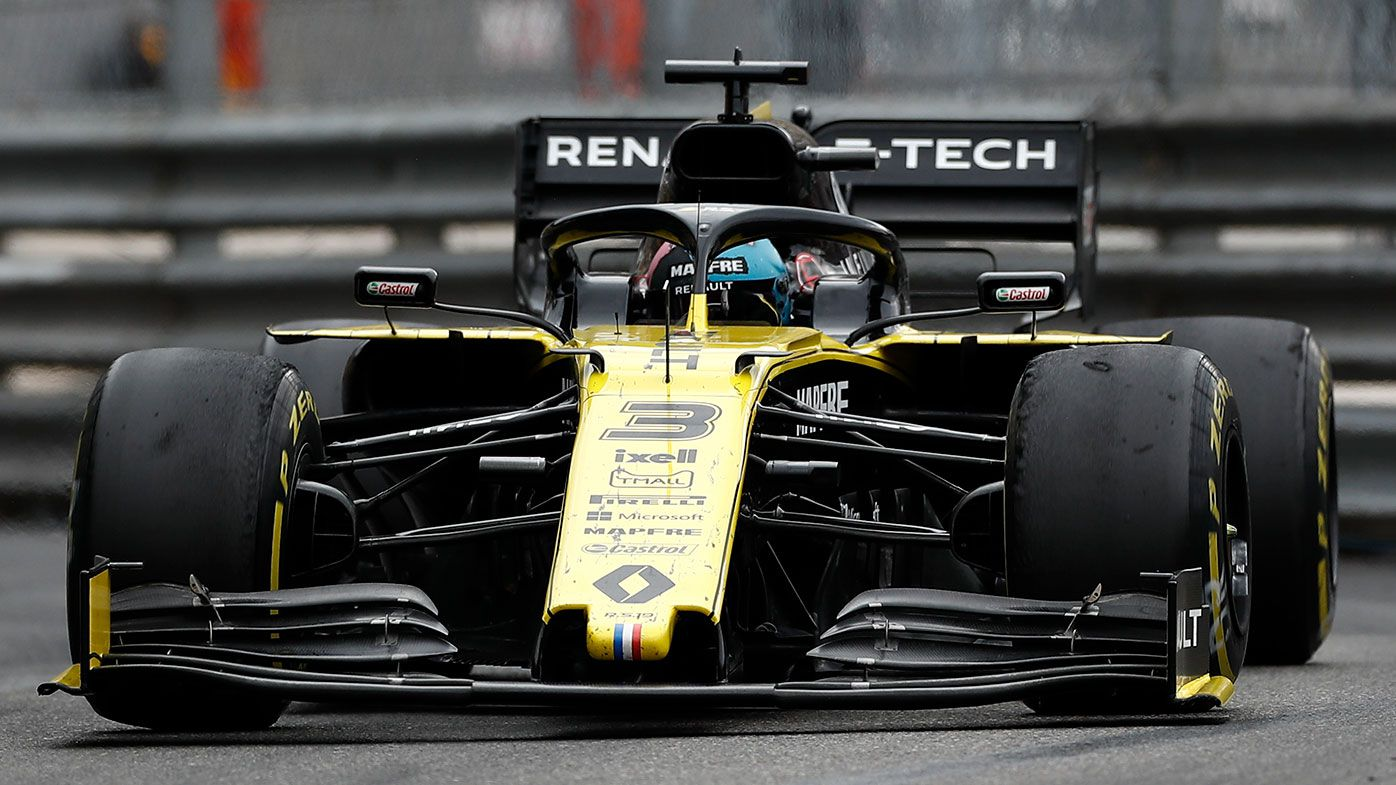Daniel Ricciardo in action for Renault at Monaco in 2019.
