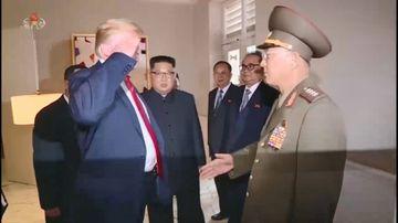 Trump's salute to North Korea raises eyebrows