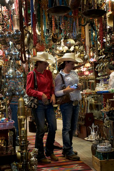 The Cowgirls checking out the local wares.