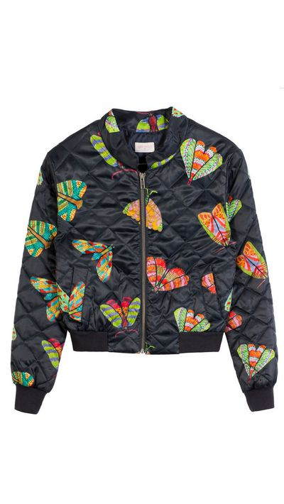 "<a href=""http://www.gormanshop.com.au/clothing/jackets-and-coats/moth-to-a-flame-bomber.html"">Moth to a Flame Bomber, $249, Gorman</a>"