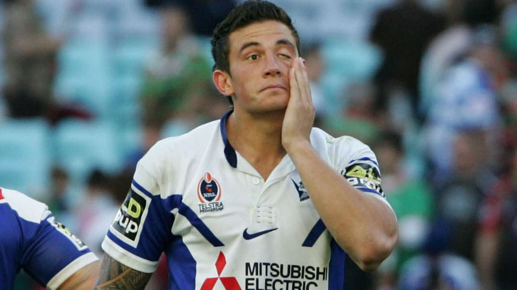 Sonny Bill Williams playing for the Bulldogs.