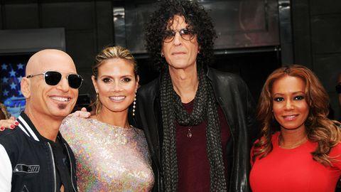 America's Got Talent judges Howie Mandel, Heidi Klum, Howard Stern and Mel B attend the season 8 meet the judges red carpet in New York City on April 9.