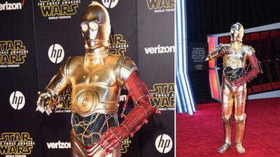 C-3PO walks the red carpet. (Getty)