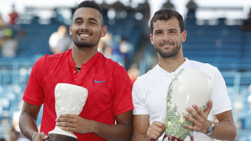 Nick Kyrgios thanks mother for doing his laundry after loss to Grigor Dimitrov in Cincinnati