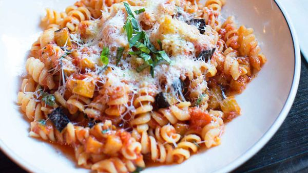 Fusilli alla norma with eggplant and ricotta salata recipe