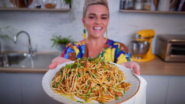 Jane de Graaff cooks pantry sardine pasta