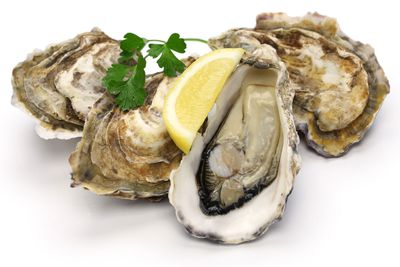 Oysters: 50-100 micrograms per 75g