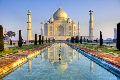 Inside the Taj Mahal in Agra, India