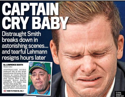 Smith has been titled 'Captain Cry Baby' by UK newspapers. (Daily Mail)