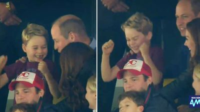 Prince George's hilarious reactions at soccer game with Kate and Wills
