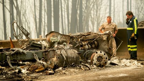 Only a molten wreck remained after fires tore through California.