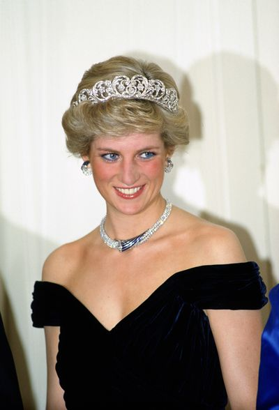 <strong><em>Spencer Tiara</em></strong><br> <br> When Lady Di married Prince Charles there was no need to go Freddie Fox hat in hand begging for a loan. Diana was able to raid the Spencer family vault. <br> <br> Surprisingly the elegant headpiece is a mash-up of&nbsp; pieces that belonged to the Di's grandmother Lady Cynthia Hamilton, a topper from her future great aunt Lady Sarah Isabella Spencer and ends from the last Viscountess of Montagu, Frances Manby.<br> <br> Diana regularly wore the relatively light pieces during her duties as Princess of Wales.<br> <br> Permission for Markle to wear the piece would need to come from the Spencer family but would be a wonderful tribute to Prince Harry's mother.