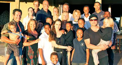 Angelina Jolie and Brad Pitt spent their Christmas break at a wildlife sanctuary in Namibia, Africa, with their six kids.