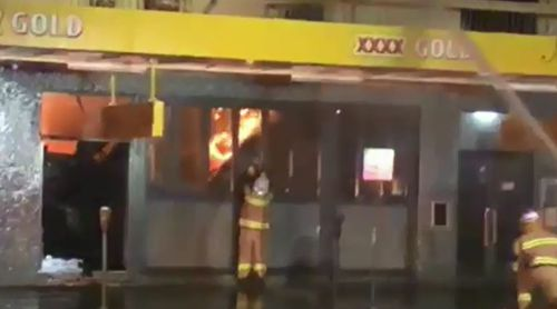Fire crews worked through the night to save the Commercial Hotel in Dalby.