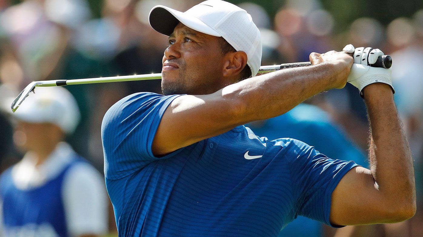Adam Scott and Tiger Woods lurking on PGA Championship leaders