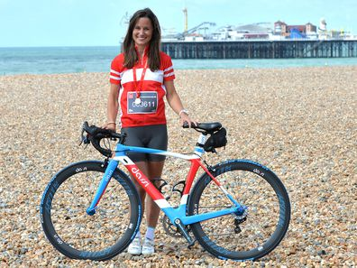 Pippa Middleton cycling