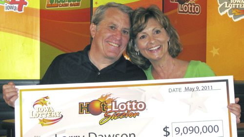 Larry Dawson initially thought he had won just US$9 million in the lottery.