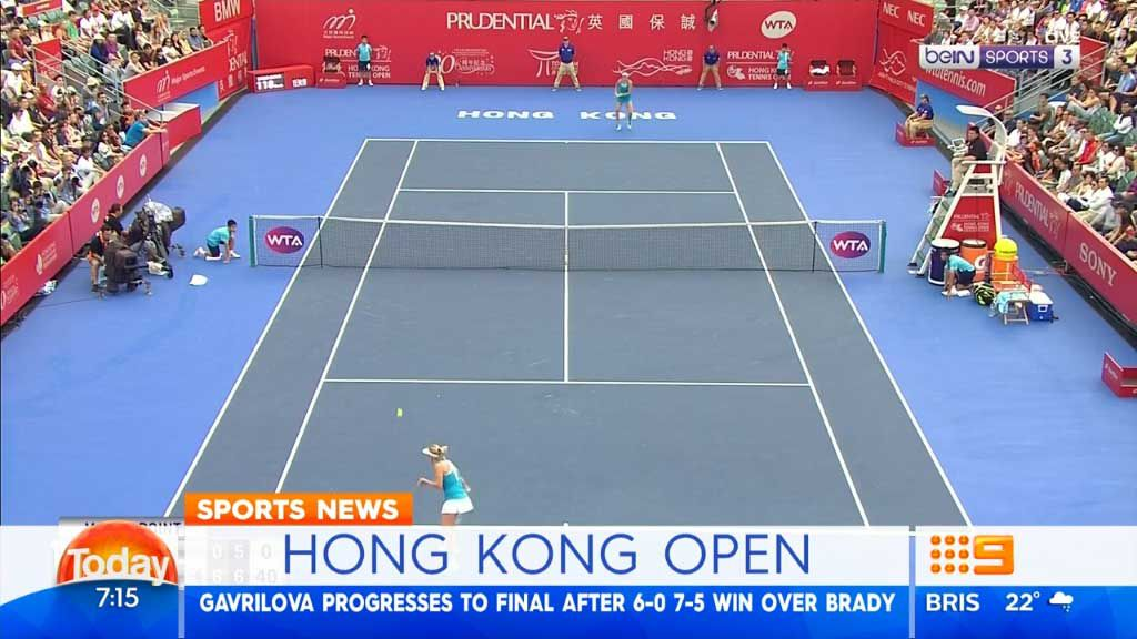 Gavrilova reaches Hong Kong Open final